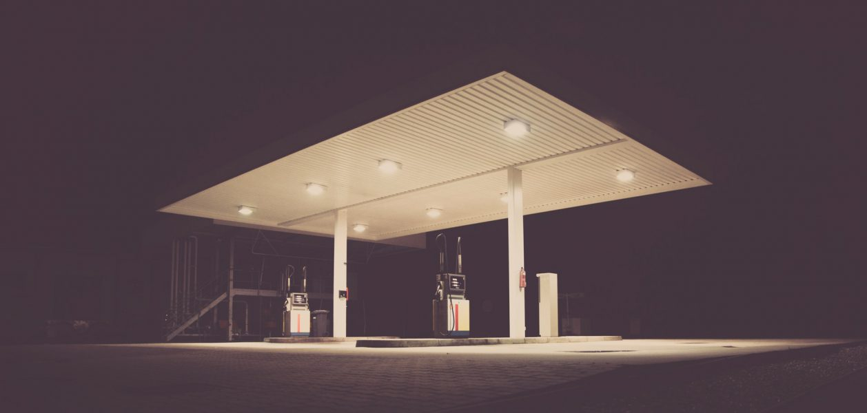 In which 7 oil gas stations can bulk kerosene be purchased for distribution?