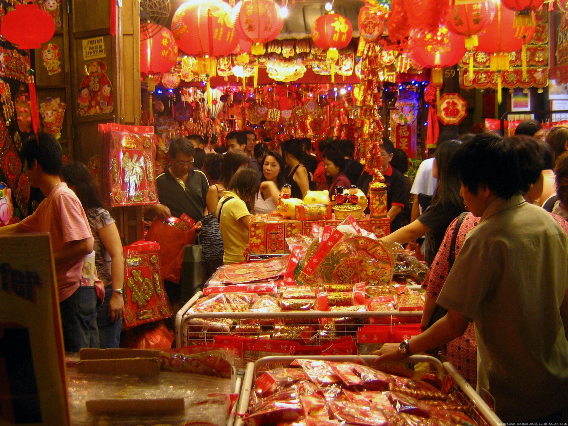 Chinese New Year market Red